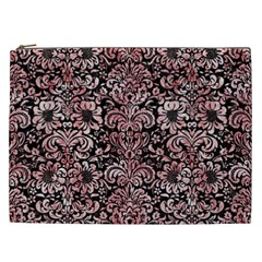 Damask2 Black Marble & Red & White Marble Cosmetic Bag (xxl) by trendistuff
