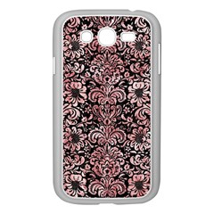 Damask2 Black Marble & Red & White Marble Samsung Galaxy Grand Duos I9082 Case (white) by trendistuff