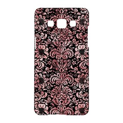 Damask2 Black Marble & Red & White Marble Samsung Galaxy A5 Hardshell Case  by trendistuff