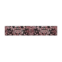 Damask2 Black Marble & Red & White Marble Flano Scarf (mini) by trendistuff