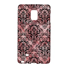 Damask1 Black Marble & Red & White Marble (r) Samsung Galaxy Note Edge Hardshell Case by trendistuff