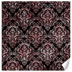 Damask1 Black Marble & Red & White Marble Canvas 12  X 12  by trendistuff