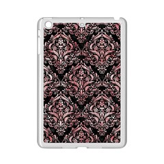 Damask1 Black Marble & Red & White Marble Apple Ipad Mini 2 Case (white) by trendistuff