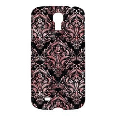 Damask1 Black Marble & Red & White Marble Samsung Galaxy S4 I9500/i9505 Hardshell Case by trendistuff
