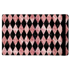 Diamond1 Black Marble & Red & White Marble Apple Ipad 2 Flip Case by trendistuff