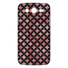 Circles3 Black Marble & Red & White Marble (r) Samsung Galaxy Mega 5 8 I9152 Hardshell Case
