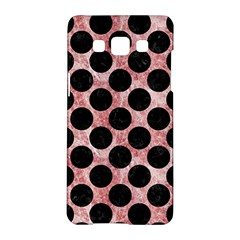 Circles2 Black Marble & Red & White Marble (r) Samsung Galaxy A5 Hardshell Case  by trendistuff