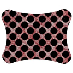 Circles2 Black Marble & Red & White Marble (r) Jigsaw Puzzle Photo Stand (bow) by trendistuff