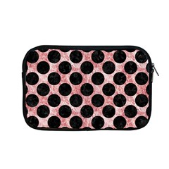 Circles2 Black Marble & Red & White Marble (r) Apple Macbook Pro 13  Zipper Case