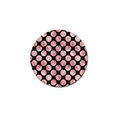 Circles2 Black Marble & Red & White Marble Golf Ball Marker by trendistuff
