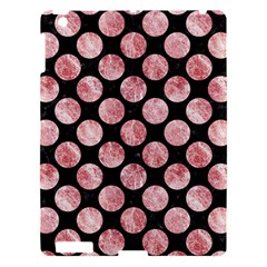 Circles2 Black Marble & Red & White Marble Apple Ipad 3/4 Hardshell Case by trendistuff