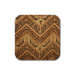 Batik Pekalongan Rubber Square Coaster (4 Pack)  by AnjaniArt