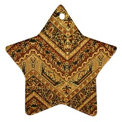 Batik Pekalongan Star Ornament (two Sides)  by AnjaniArt