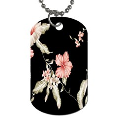 Buds Petals Dark Flower Pink Dog Tag (two Sides) by AnjaniArt