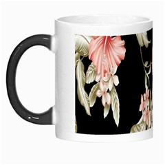 Buds Petals Dark Flower Pink Morph Mugs by AnjaniArt