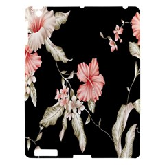 Buds Petals Dark Flower Pink Apple Ipad 3/4 Hardshell Case by AnjaniArt