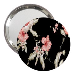 Buds Petals Dark Flower Pink 3  Handbag Mirrors