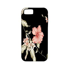 Buds Petals Dark Flower Pink Apple Iphone 5 Classic Hardshell Case (pc+silicone) by AnjaniArt
