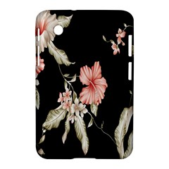 Buds Petals Dark Flower Pink Samsung Galaxy Tab 2 (7 ) P3100 Hardshell Case  by AnjaniArt