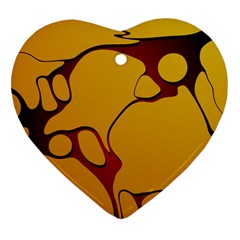 Black Yellow Orange Heart Ornament (2 Sides) by AnjaniArt