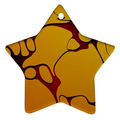 Black Yellow Orange Star Ornament (two Sides)