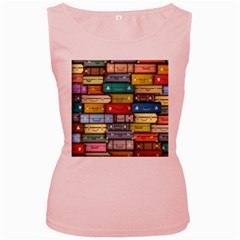Colored Suitcases Women s Pink Tank Top