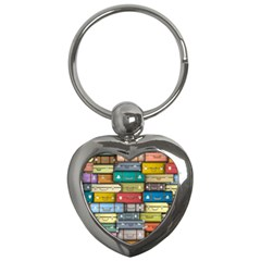Colored Suitcases Key Chains (heart)