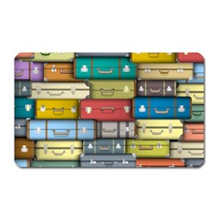 Colored Suitcases Magnet (rectangular)