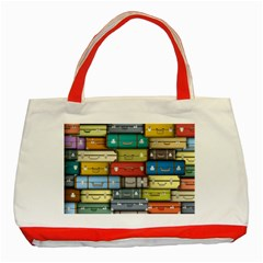 Colored Suitcases Classic Tote Bag (red)