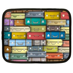 Colored Suitcases Netbook Case (large)