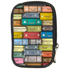 Colored Suitcases Compact Camera Cases by AnjaniArt