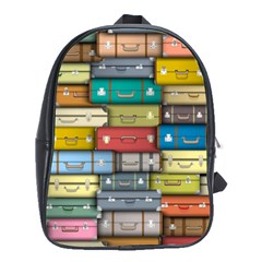 Colored Suitcases School Bags(large)  by AnjaniArt