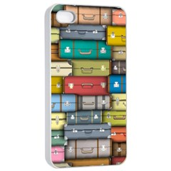Colored Suitcases Apple Iphone 4/4s Seamless Case (white)