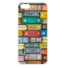 Colored Suitcases Apple Iphone 5 Seamless Case (white)