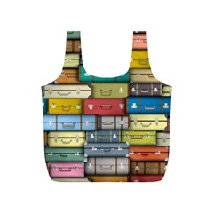 Colored Suitcases Full Print Recycle Bags (s)