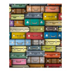 Colored Suitcases Shower Curtain 60  X 72  (medium)  by AnjaniArt
