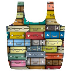 Colored Suitcases Full Print Recycle Bags (l)