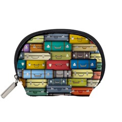 Colored Suitcases Accessory Pouches (small)