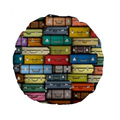 Colored Suitcases Standard 15  Premium Flano Round Cushions