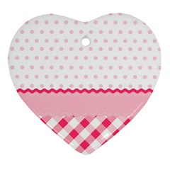 Cute Cartoon Decorative Pink Heart Ornament (2 Sides) by AnjaniArt