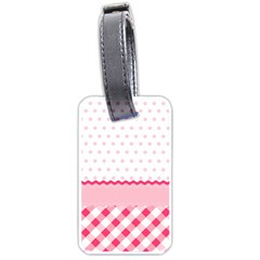 Cute Cartoon Decorative Pink Luggage Tags (one Side)