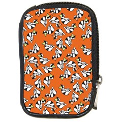 Cat Hat Orange Compact Camera Cases by AnjaniArt