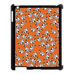 Cat Hat Orange Apple Ipad 3/4 Case (black) by AnjaniArt