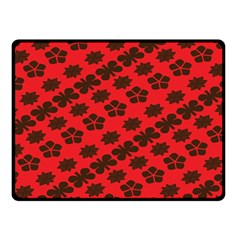 Diogonal Flower Red Fleece Blanket (small)