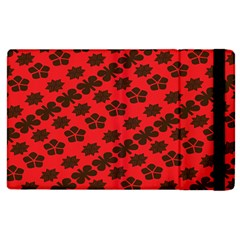 Diogonal Flower Red Apple Ipad 2 Flip Case