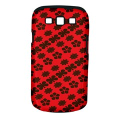 Diogonal Flower Red Samsung Galaxy S Iii Classic Hardshell Case (pc+silicone)