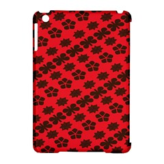 Diogonal Flower Red Apple Ipad Mini Hardshell Case (compatible With Smart Cover) by AnjaniArt