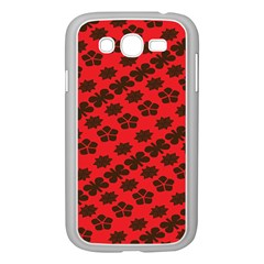 Diogonal Flower Red Samsung Galaxy Grand Duos I9082 Case (white)
