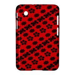 Diogonal Flower Red Samsung Galaxy Tab 2 (7 ) P3100 Hardshell Case  by AnjaniArt