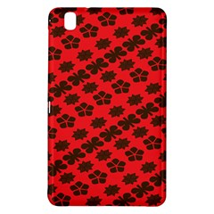 Diogonal Flower Red Samsung Galaxy Tab Pro 8 4 Hardshell Case